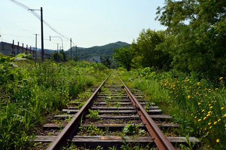 The discontinued Horonai railroad track
